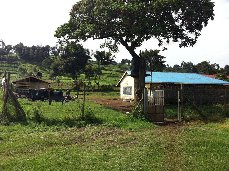 A view of the Mukeu School in rural Kenya.