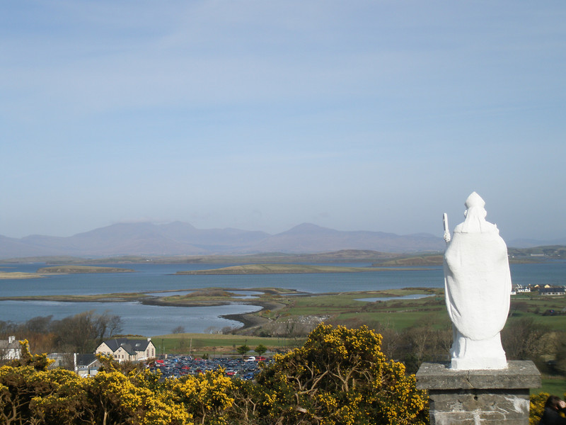 Statue of St. Patrick overlooking Clew Bay in Ireland, March 2009.
