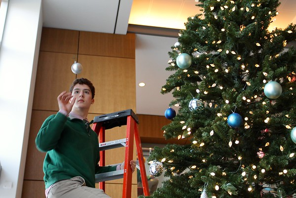Christmas Tree Decorating Keefe Building