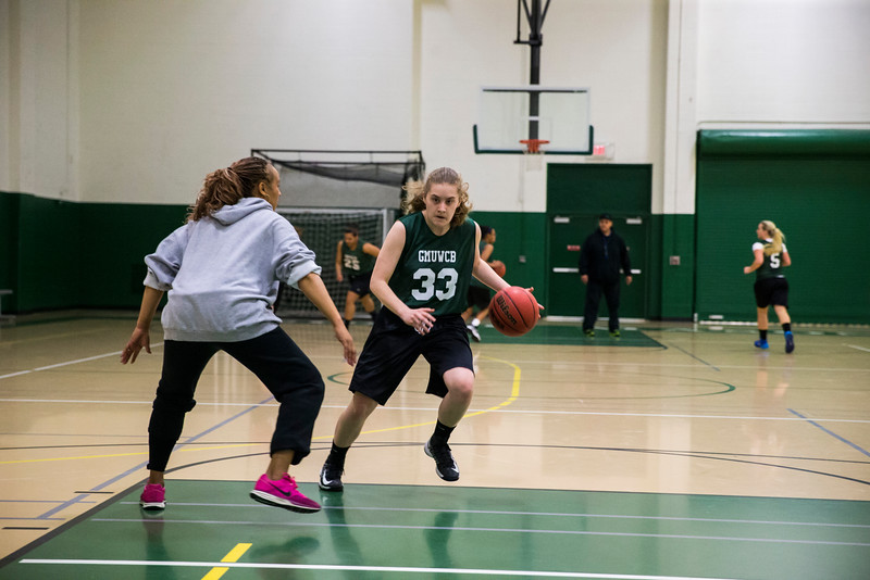The George Mason women's basketball club practices.  Bonnie Bishop worked with Mason Recreation to get a team together when she transferred here and found no outlet for her love of basketball.  Photo by Craig Bisacre/Creative Services/George Mason University