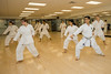 Instructor Golnesa Asheghali teaches a Karate, PHED 163, course at the Recreation and Athletic Complex at Fairfax Campus. Photo by Alexis Glenn/Creative Services/George Mason University