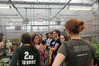 Monica Marcelli gives a greenhouse tour to Mason students. Photo by Evan Cantwell/Creative Services/George Mason University