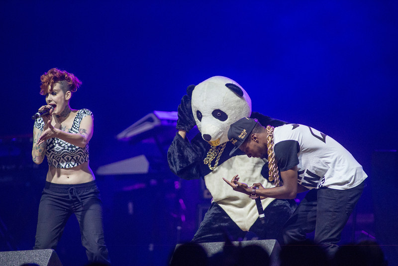 Fly Panda performs at the Patriot Center as an opening act for Ludacris during Mason 2014. Photo by Craig Bisacre/Creative Services/George Mason University