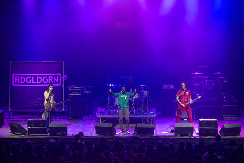 RDGLDGRN, pronounced Red Gold Green, performs at the Patriot Center as an opening act for Ludacris during Mason Day 2014. Photo by Craig Bisacre/Creative Services/George Mason University