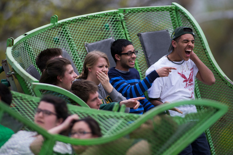 Students participate in the annual Mason Day activities. Photo by Craig Bisacre/Creative Services/George Mason University