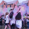 Students participate in Holi Moli, which is sponsored by the GMU Indian Student Assocation. They celebrate the Hindu festival Holi by throwing color powder.   Photo by: Bethany Camp / Creative Services / George Mason University