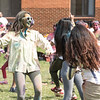Students celebrate Holi Moli in President's Park. Photo by Bethany Camp/Creative Services/George Mason University