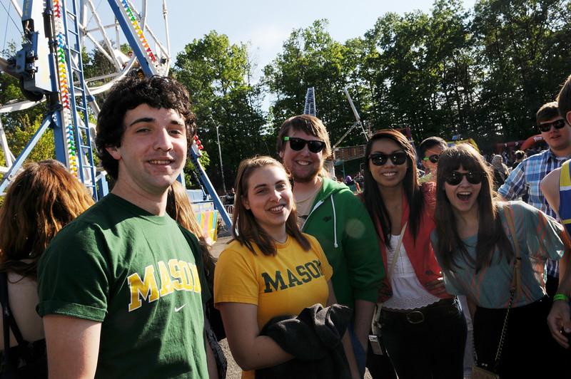 Students enjoy Mason Day on the Fairfax campus.