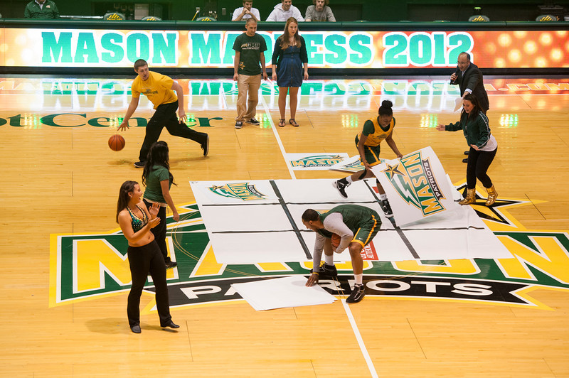 The Women's and Men's basketball teams play games at Mason Madness at the Patriot Center. Photo by Alexis Glenn/Creative Services/George Mason University