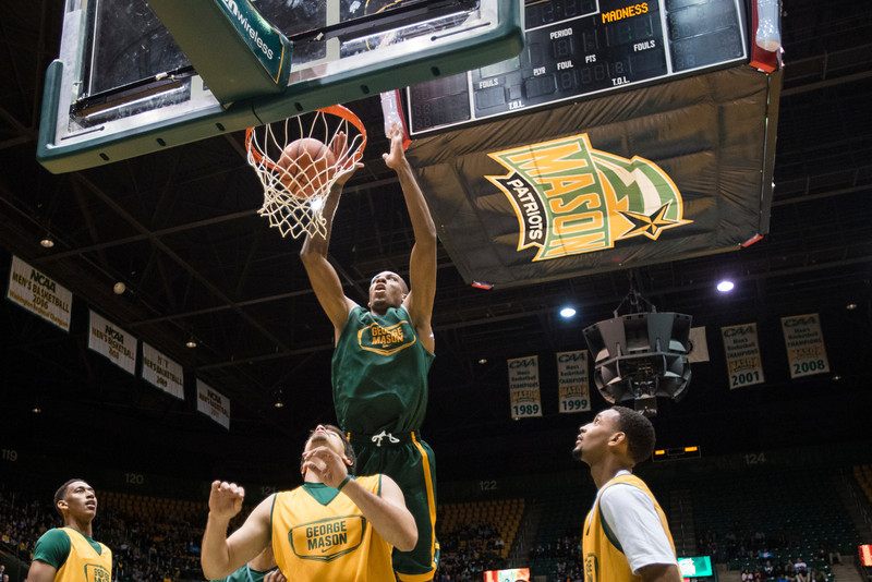 The Men's Baketball team plays during Mason Madness at the Patriot Center. Photo by Alexis Glenn/Creative Services/George Mason University