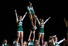 The Cheerleading Squad performs at Mason Madness at the Patriot Center. Photo by Alexis Glenn/Creative Services/George Mason University