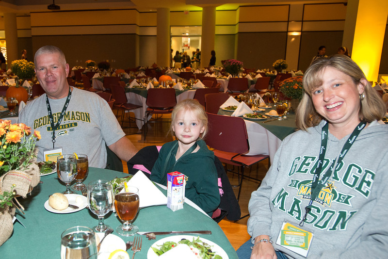 Families attend the Family Weekend Welcome Dinner at Fairfax campus. Photo by Alexis Glenn/Creative Services/George Mason University