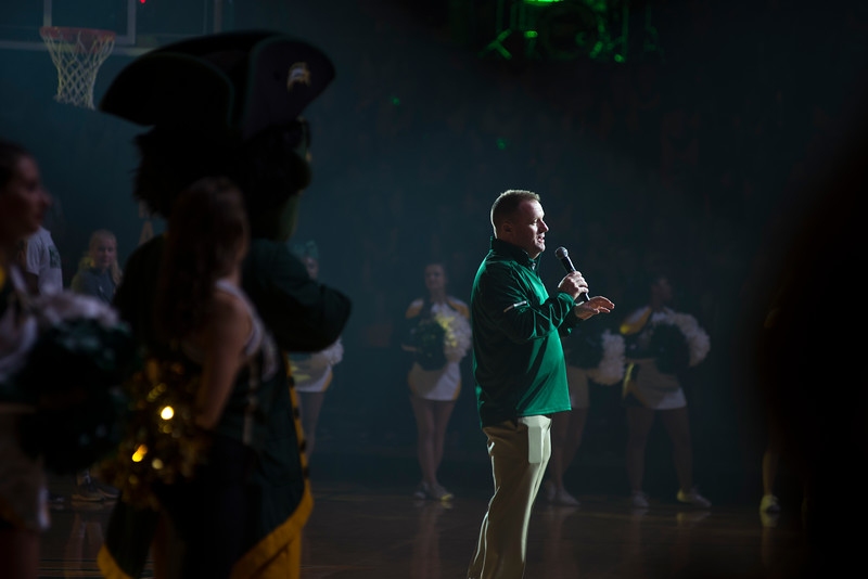 Mason Madness celebrates the start of the basketball season with the green machine, mason dance team, mason cheerleading, and more. Photo by Bethany Camp / Creative Services / George Mason University