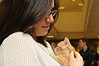 Students play with kittens at the Law School's Puppy Day in Robert A. Levy Atrium in Hazel Hall at George Mason University's Arlington Campus. The event, part of de-stress week, is hosted by A Forever-Home Rescue Foundation and Homeward Trails, two non-profit animal rescue groups. Photo by Evan Cantwell/Creative Services © George Mason University
