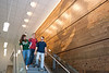 Mason students walk inside the Whitetop residence hall on Fairfax campus. Photo by Alexis Glenn/Creative Services/George Mason University