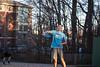 Frisbee student