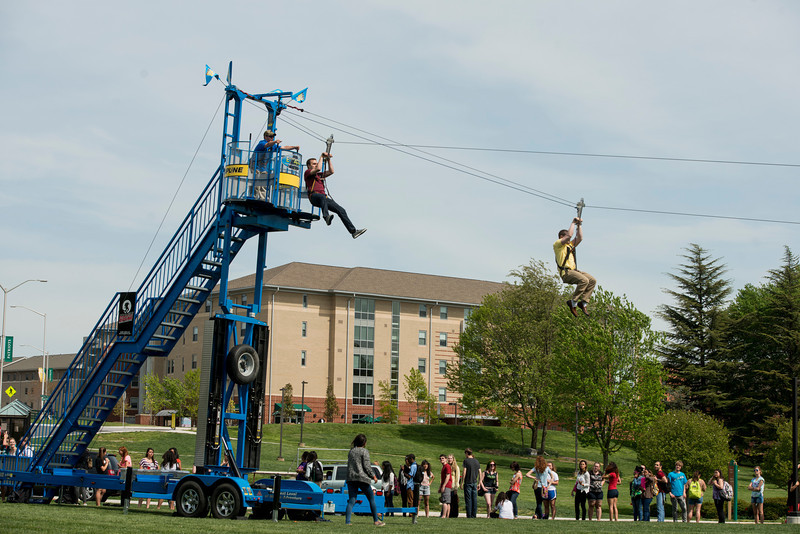 Zip line at Mason Week
