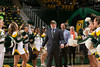 Trevor Scambos is awarded at George Mason Men's Basketball Senior Night. Photo by Craig Bisacre/Creative Services/George Mason University