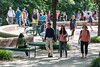 Students walk near the Johnson Center at Fairfax Campus. Photo by Alexis Glenn/Creative Services/George Mason University