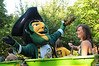090902255 - The Patriot takes a spin with students on a ride during Welcome Week on the Fairfax Campus. Photo by Creative Services.