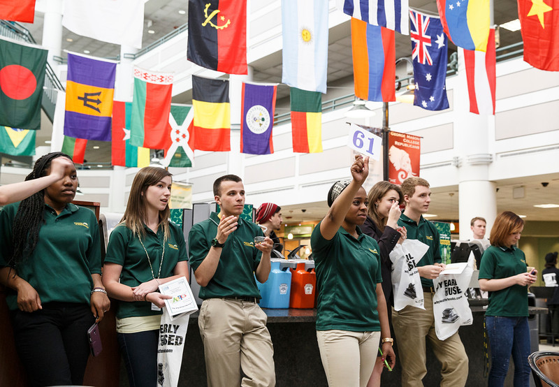 Mason Community participate in the annual GBAY student scholarship auction run by the George Mason University Student Ambassadors. Photo by Craig Bisacre/Creative Services/George Mason University