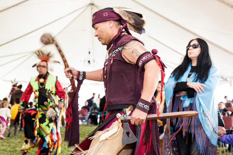 The 14th Annual Veterans' Powwow, hosted by the Native American and Indigenous Alliance in partnership with Native American Lifelines, held on November 11, 2016 at George Mason University in outside in front of the Student Union Building I under a heated tent.  Photo by:  Ron Aira/Creative Services/George Mason University