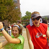 Sara and Eric (FOCUS Leaders) take time off from Move-In Day to show off some dance moves.