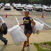 Krystal (FOCUS Leader) decides that pillows are good to carry during Move-In Day.