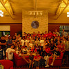 A group shot of everyone at the Ice Cream Social with Dr. Golden.