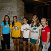Some freshmen having fun at the City Museum during orientation