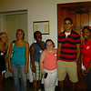 """Ashley's (far right) FOCUS group gets ready to """"Catch the Fire""""."""