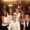 FOCUS Leaders Krystal, Bridget, Alex, Mary, Emily, and Dan take a break during Casino Night