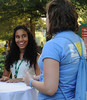 100722175e - Mason families at a barbecue hosted by Orientation and Family Programs and Services. Photo by Lori Wilson