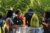 100722091 - Mason families at a barbecue hosted by Orientation and Family Programs and Services. Photo by Lori Wilson