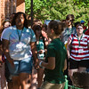 Rising freshmen, class of 2016, participates in orientation which is run by students known as Patriot Leaders on June 25, 2012