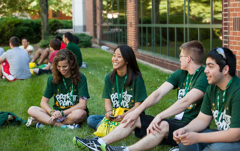 Incoming freshman students participate in orientation at Fairfax campus. Photo by Alexis Glenn/Creative Services/George Mason University