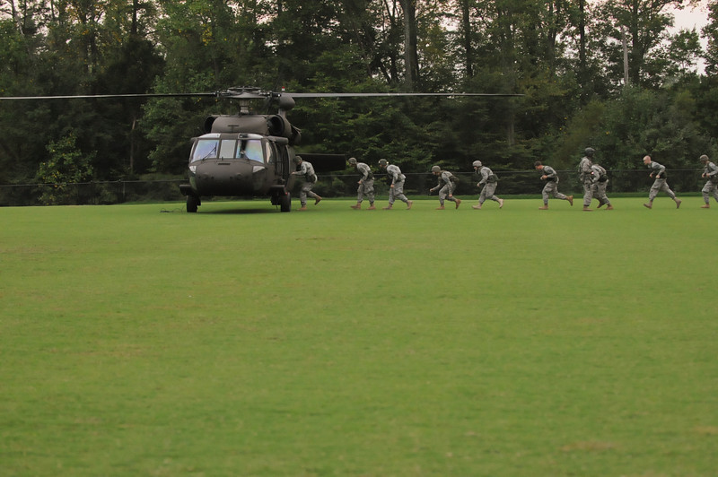 ROTC cadets Black Hawk training. Photo by Evan Cantwell.