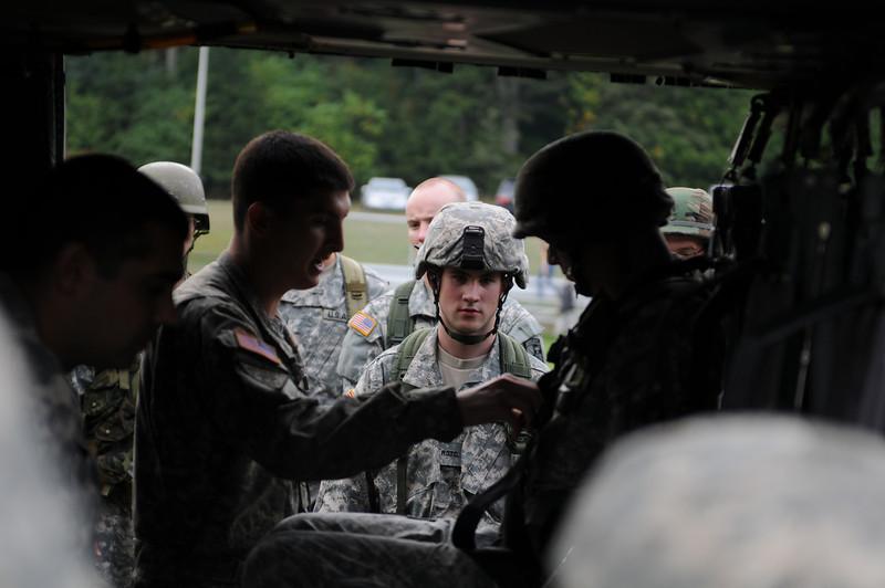 ROTC cadets Black Hawk training. Photo by Lori Wilson.