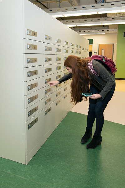 Mail services have a new state of the art mail sorter that can go through the entire day's mail in minutes. Students can now get their larger packages from new bluetooth mailboxes as well. Photo by Bethany Camp/Creative Services/George Mason University