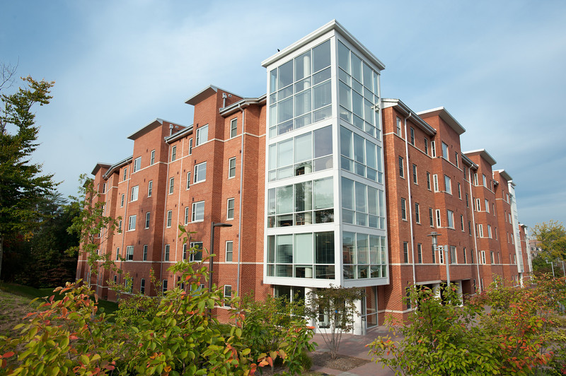 Potomac Heights residence hall on Fairfax Campus.  Photo by Creative Services