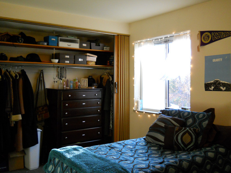 This is another picture of the large bedroom. There is a twin size bed and dresser in each bedroom. The large bedroom has a large closet as shown in the picture.