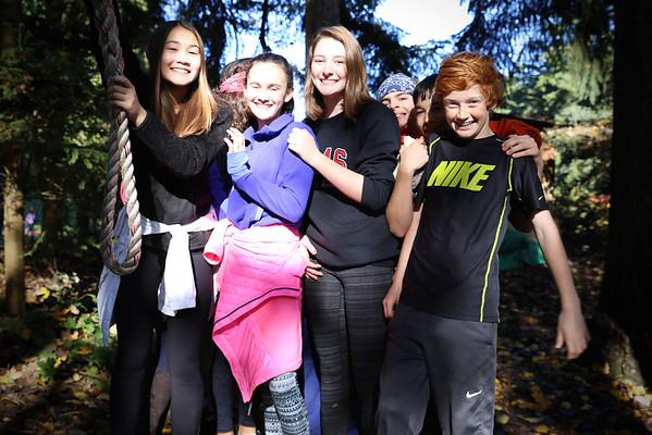 2016 7th Grade Ropes at Camp Long