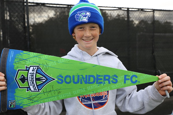 2017 Seattle Academy Soccer visits Seattle Sounders FC Practice
