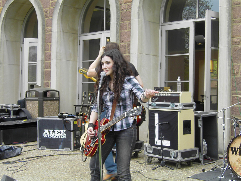 Alex Winston performs during Springfest