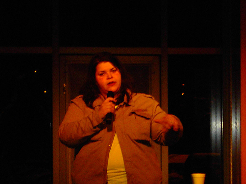 Jen Kobler performs at Comedy Night.