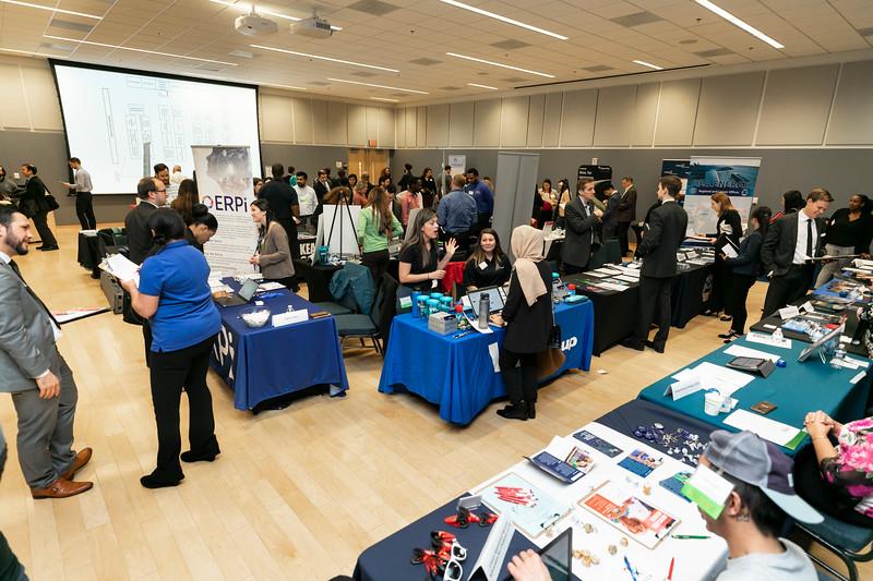 Arlington Graduate Career Fair.  Photo by:  Ron Aira/Creative Services/George Mason University