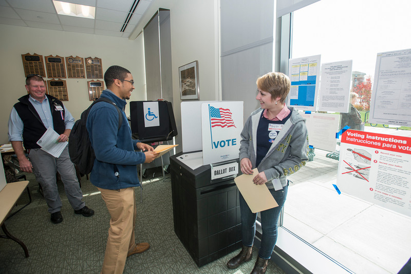 Election day at the Fairfax campus