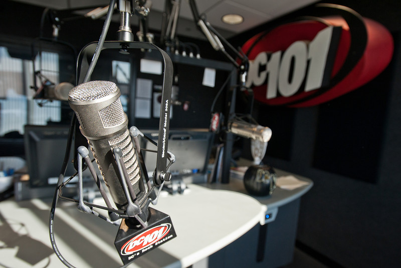 The studios of the radio station DC 101 in Rockville, Maryland.