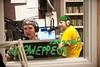 110930507 - WGMU's Morning Breakdown hosts John Powell (L) and Dan Zimmet on the air in WGUM's studio. Photo by Alexis Glenn