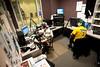 110930506 - WGMU's Morning Breakdown hosts John Powell (L) and Dan Zimmet on the air in WGUM's studio. Photo by Alexis Glenn